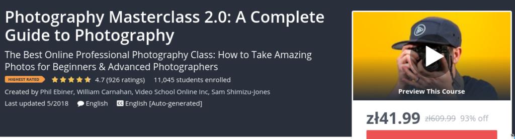 Photography Masterclass 2.0