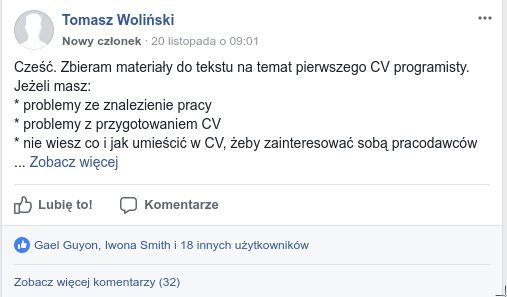 CV programisty konsultacje