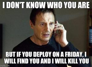 Deployment nowej wersji w piątek o 17:00 – 1