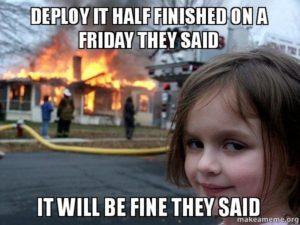 Deployment nowej wersji w piątek o 17:00 – 2