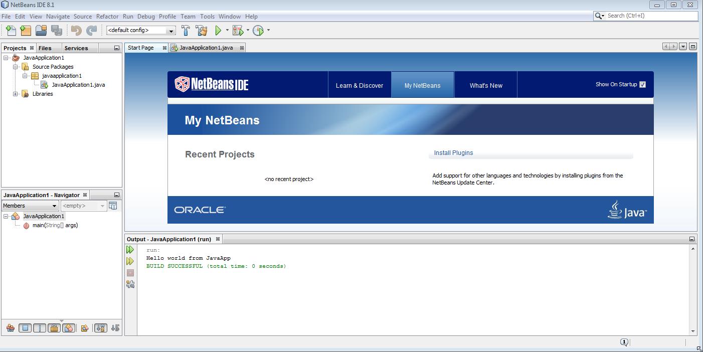Ekran powitalny Netbeans IDE