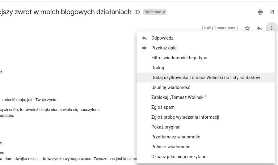 Gmail dodaj do kontaktów