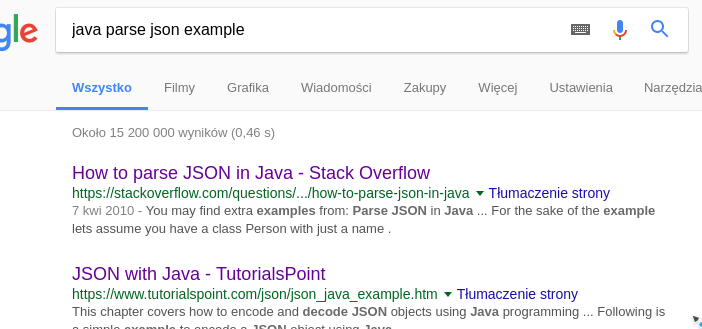 Google parse json example