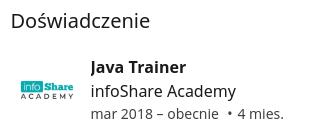 Trener infoShare Academy