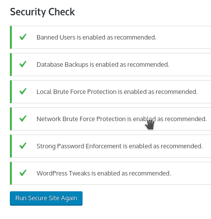 iThemes Security skanowanie