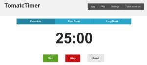 Pomodoro timer online