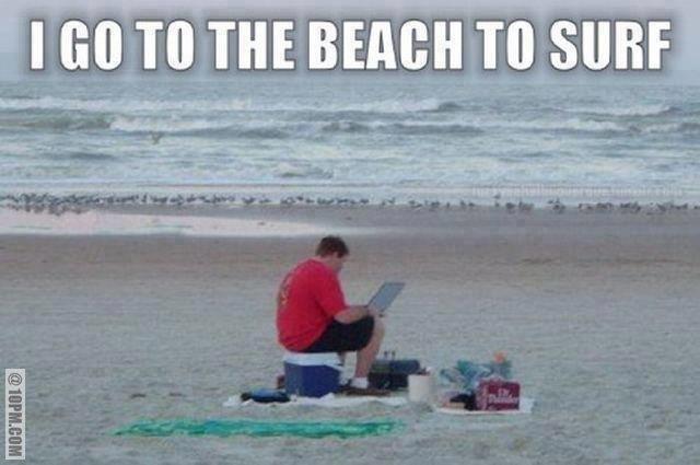 Programista na wakacjach