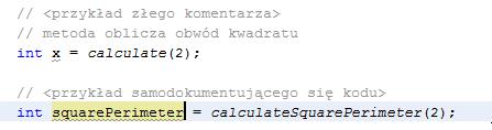 Samodokumentujący się kod