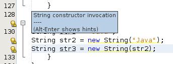 String konstruktor