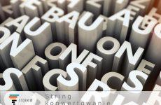 String – konwertowanie i zamiana typów