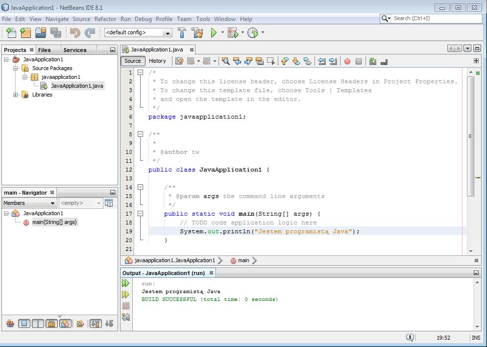 Uruchomienie projektu w Netbeans IDE