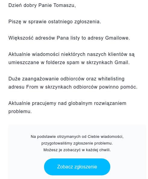 Zgłoszenie do spamu